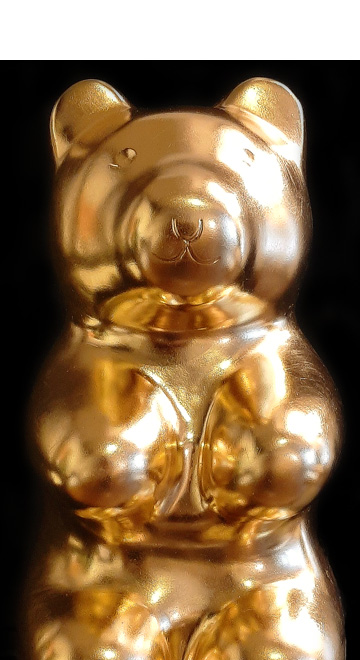jellybear gold Manuel W Stepan Art Design Pop Art Wien