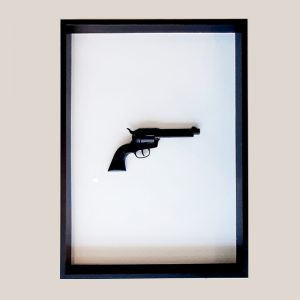 Manuel W Stepan Art Design Pop Art Wien Revolver Black