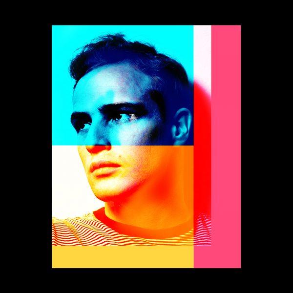 Marlon Brando collage Pop Art Manuel W Stepan